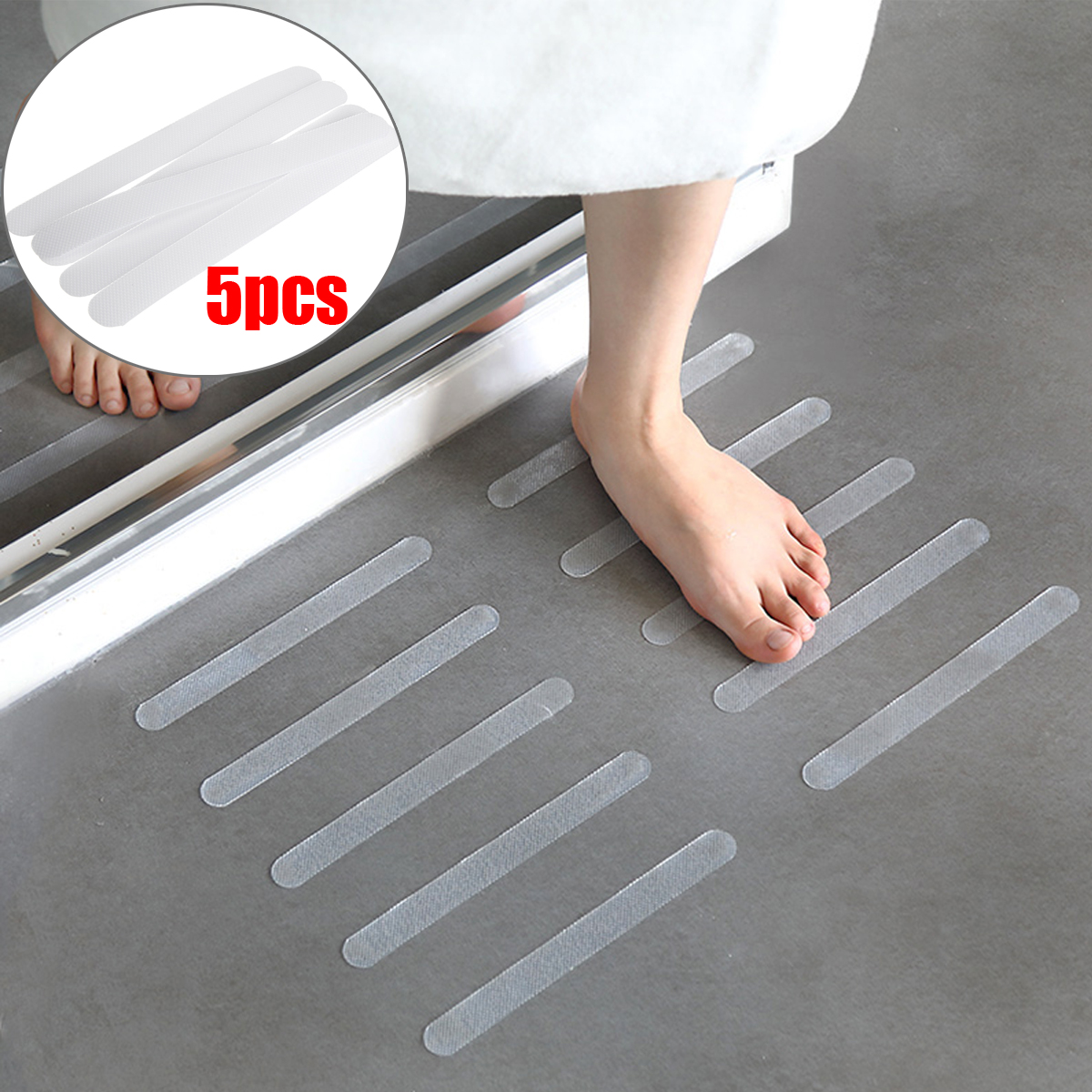 Active Components Smart Kiwarm 5/10/25pcs Bathroom Transparent Non-slip Anti Skid Strip Bath Tub Treads Stickers Safety For Stairs Pools Kitchens Home Decor