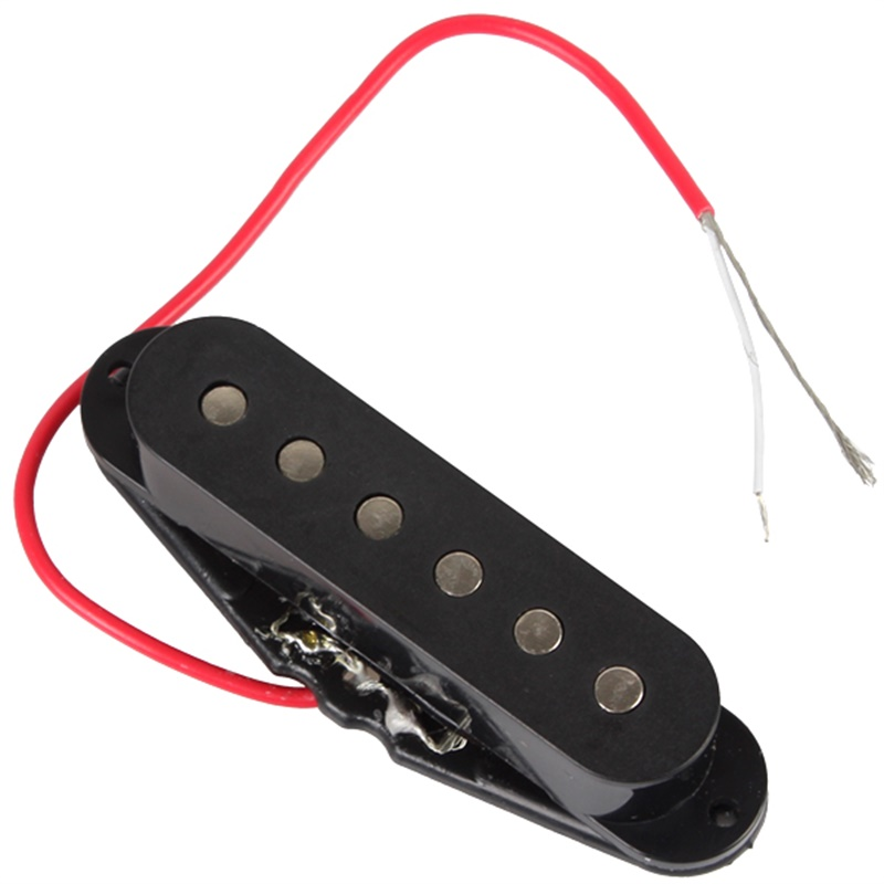 Black Single Coil Sound Pickup for 6 Strings Guitar full tone color easy to install