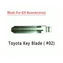 Free shipping (10 pcs/lot)Metal Blank Uncut Flip KD Remote Key Blade Type #02 for Toyota