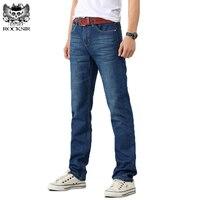 Men S Jeans Autumn Winter Stretch Dark Blue Business Casual Denim Pants Men Slim Scratched Gentleman