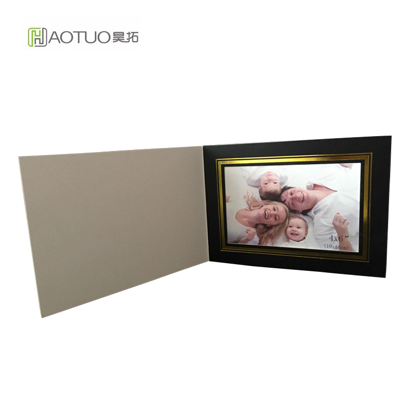 HAOTUO Acid Free Cardboard Photo Folders with Gold Line for 4x6 ...