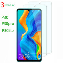 3PCS Tempered Glass on for huawei P30 P30Pro 9h Screen protector P30lite transparent front film P30pro