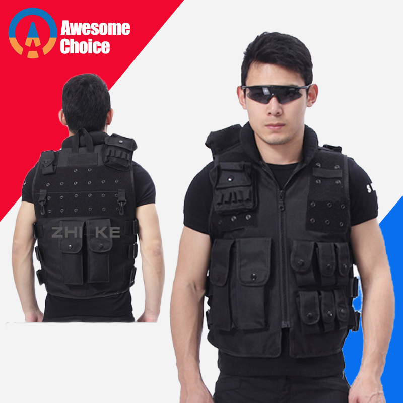 Quality Men Military Tactical Vest Paintball Camouflage Molle Hunting Vest Assault Shooting Hunting Plate Security