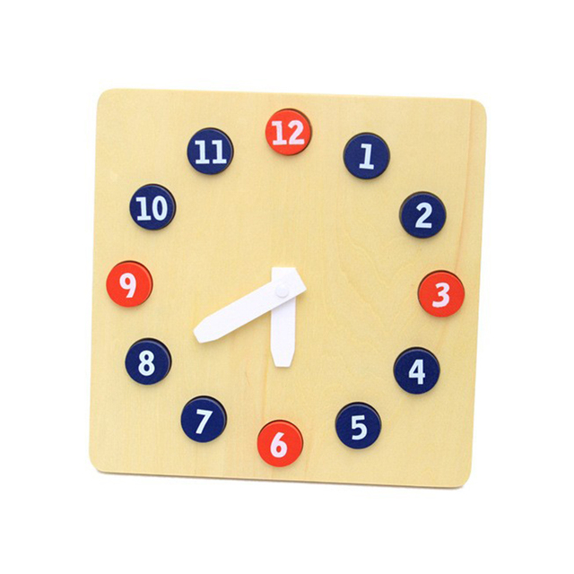 Teaching Activity Wooden Clock for Kids