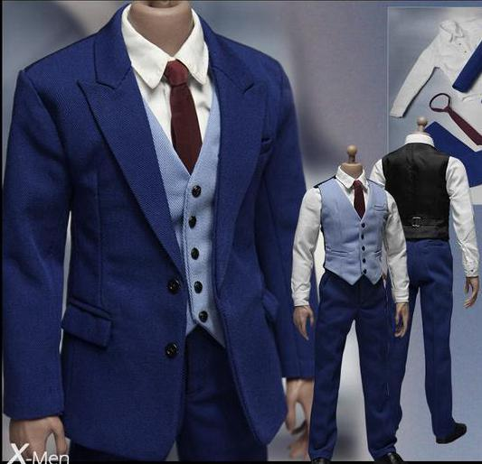 1/6 scale figure doll clothes Accessory male blue suits jacket sets for 12 action figures doll,Not included body and head