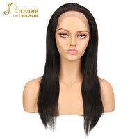 Joedir волос Синтетические волосы на кружеве натуральные волосы парики бразильский прямой 100% натуральные волосы парики для черный Для женщин