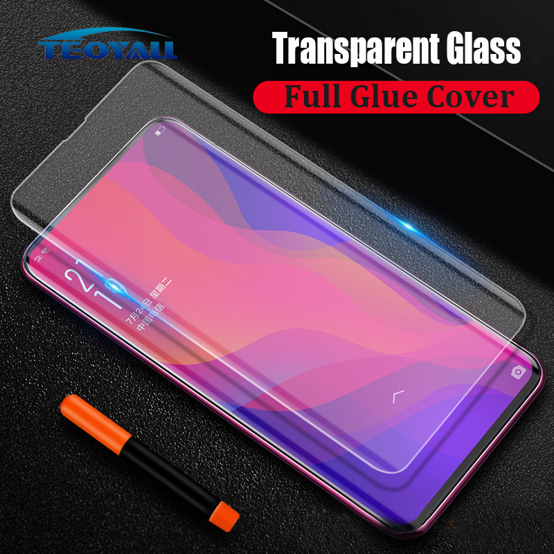 Full Cover Liquid Glue UV Tempered Glass For OPPO Find X Screen Protector Protective Film Glass On The For Oppo Findx Protector
