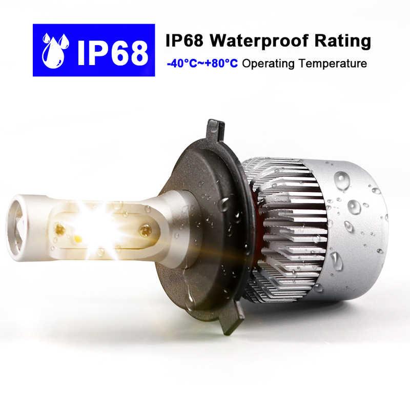 Hlxg 2Pcs 4300K 6500K 8000K 12V H7 H11 H1 H4 Led Car Headlight 8000LM/Set 72W Auto 9005 HB3 9006 HB4 Led Headlamp Conversion Kit