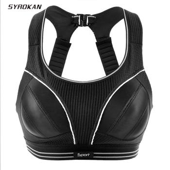 SYROKAN Women's Compression Racerback Adjustable High Impact Running Sports