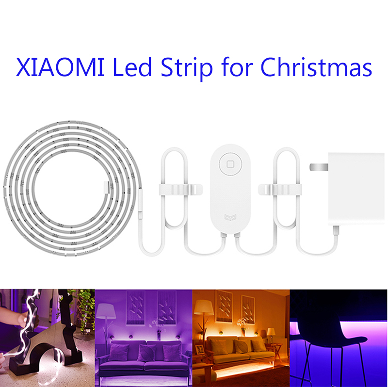 Chaude D'origine Xiaomi Musique Yeelight 2 M 16 Millions de Couleur RVB Smart WiFi Intelligent Scènes LED Stirp Lumière Flexible 60 LED vacances