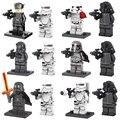 12 unids Mini figura de Star Wars 7 La Fuerza Despierta Hux Kylo Ren Capitán Phasma Stormtrooper Building Toy D120 Compatible con lego
