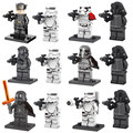 12pcs Mini Star Wars 7 The Force Awakens figure Hux Kylo Ren Captain Phasma Stormtrooper Building Toy D120  Compatible with Lego