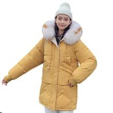 2019 Fashion Winter Down Cotton Jacket Women Long Parka Winter Clothes Women Coats Fur Collar Warm Outwear Hooded Pius Size 3XL