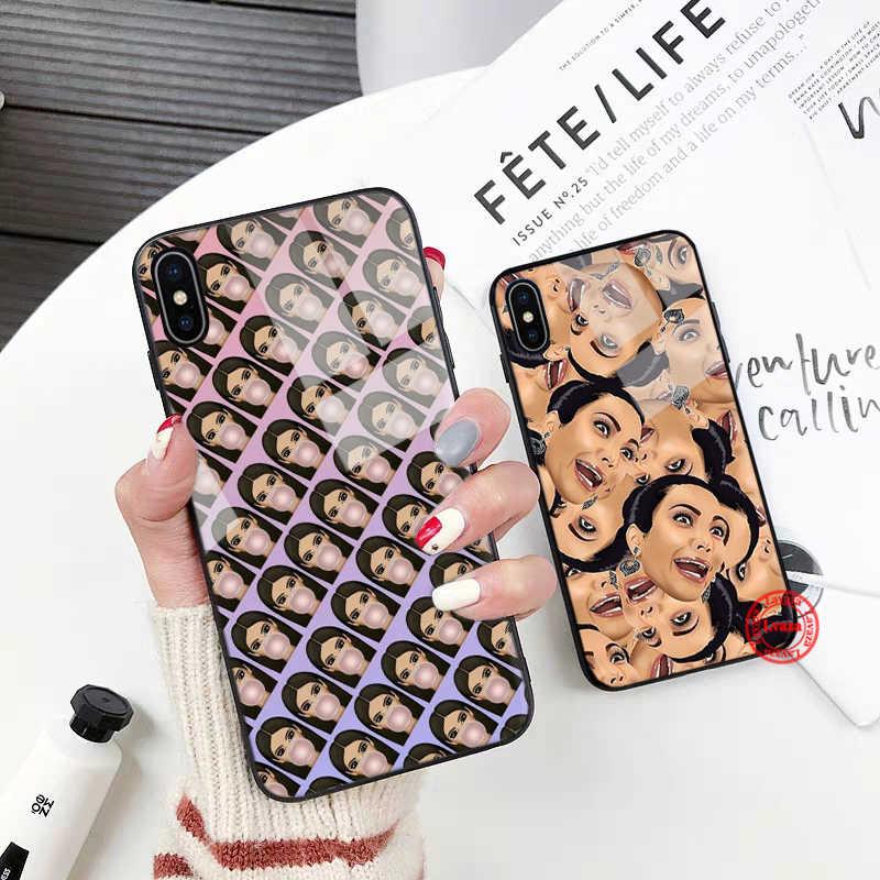 Lavaza kanye west Ким Кардашьян стеклянный чехол для телефона Apple iPhone XR X XS Max 6 6S 7 8 Plus 5 5S SE