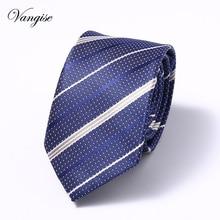 Vangise 1200 Needles 6cm Mens Ties New Man Fashion Dot Neckties Corbatas Gravata Jacquard Slim Tie Business Green For Men