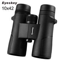 On sale Binoculars Eyeskey 10×42 High Quality Telescope Bak4 Binoculo Power Fully Multi-Coated Telescopio for Hunting Optics Black