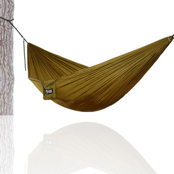 Hamaca portátil hamaca de seguridad de nailon para senderismo Camping 270*140cm hamaca de ocio para persona doble al aire libre