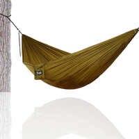 Randonnée Camping 270*140 cm Hamac Portable Nylon sécurité Parachute Hamac suspendu chaise balançoire extérieure Double personne loisirs Hamak
