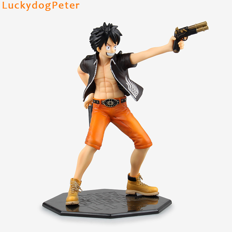 Toys & Hobbies One Piece D.p.c.f Luffy Action Figure 1/7 Scale Painted Figure Black Two Guns Monkey D Luffy Doll Pvc Acgn Figure Toy Brinquedos Latest Fashion