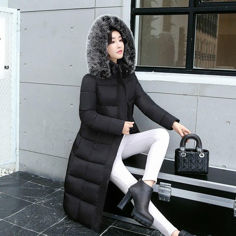 Outwear Femmes Col Fourrure Rembourré Chaud Green D'hiver Manteaux Noir Coréenne army De Long Veste gris Parka Avec marron Vestes Dames q75zxO