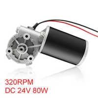 UXCELL (R) 1 stücke 24 v 80 watt 320 rpm DC 6N. M Reversible Wurm Getriebe Motor High Torque Geschwindigkeit Reduzierung Elektrische Getriebe Motor-JCF63R