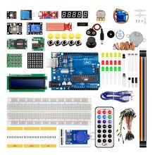 Kit électronique RTC de relais de LED de platine de prototypage 1602 LCD 830 pour Arduino Uno R3 Kit de démarrage Version améliorée
