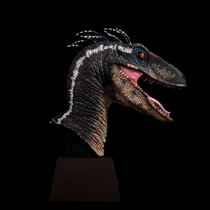 Image 3 - ITOY Feather Velociraptor Jurassic Dinosaur Head Sculpture Limited Edition