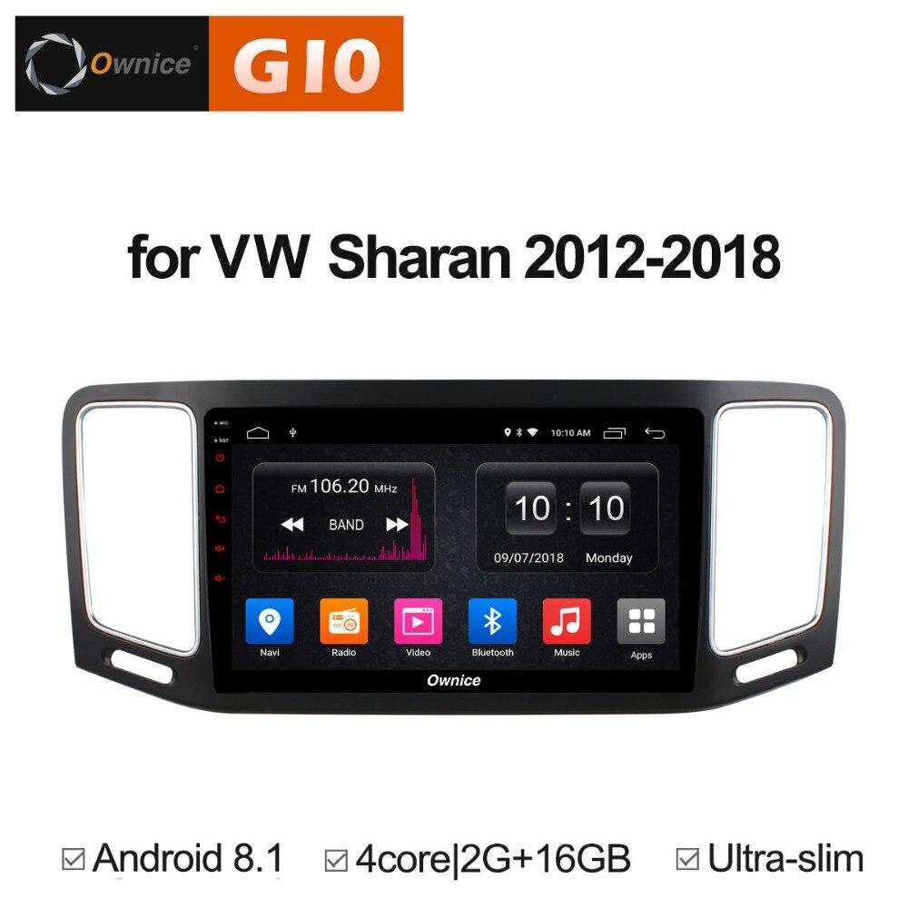 2 GB RAM + 16 GB ROM Android 8.1 Quad 4 Core lecteur DVD de voiture pour Volkswagen VW Sharan 2012-2018 GPS Navigation Radio stéréo TPM