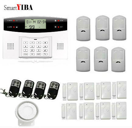 Best Price SmartYIBA GSM Home Security Burglar Alarm System With LCD Press Key Screen Auto Dial Door Window Sensor For Home Security Alarm