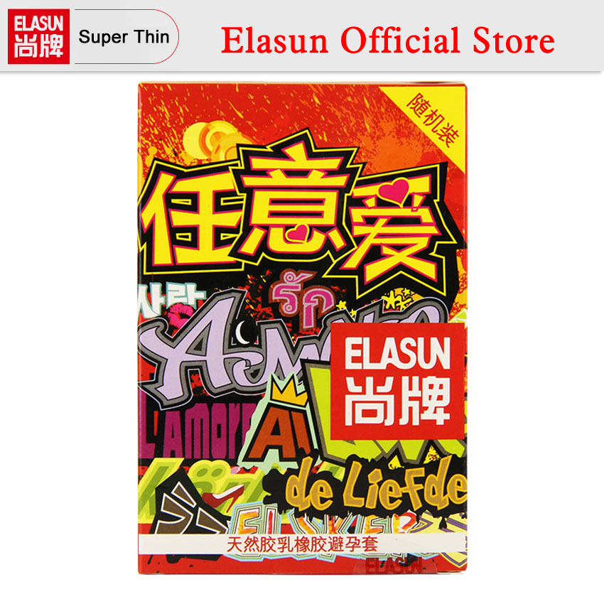 ELASUN 16 PCS Arbitrary Love Random Packet Lubricated Condoms Natural Latex Rubber Condom for Men Sex Products Condones