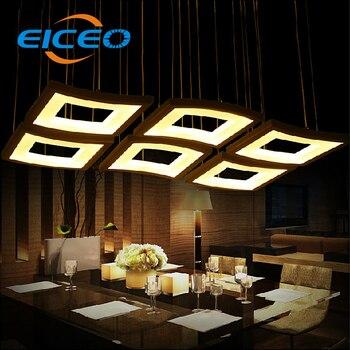 (EICEO) hotel cafe led chandelier living room phòng ngủ chiếu sáng bầu không khí tam giác sáng tạo đèn pendant lamp 3 head 6 đầu