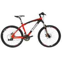 BEIOU XC Mountain Bike 26 Inch MTB Carbon Frame Complete Bicycle 27 Speed S H I M A N O 370 T700 Fiber Glossy BOCB004