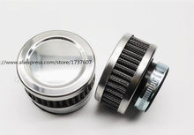 1pcs Stainless Ring Motorcycle Air Filter 32MM 35MM 38MM 48MM 54MM 60MM Cleaner For SR400 CB550 CB750 Kawasaki KZ650(China)