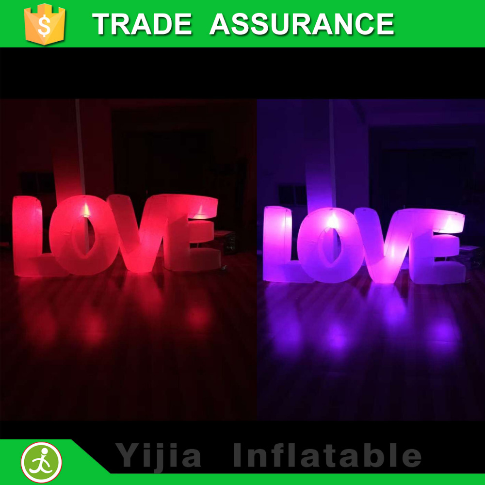 high quality wedding party decorations love lighting inflatable letterschina mainland