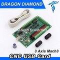 3 оси Бесплатная доставка CNC MACH3 USB 200 кГц USBCNC Гладкий Степпер контроллер движения карта breakout доска для гравировки с ЧПУ