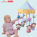 Baby Toy Newborn Infant Eyes Hands Training Mobile Baby Music Rattles Stroller Bed Hanging Kid Toys Animals Fruits for Children