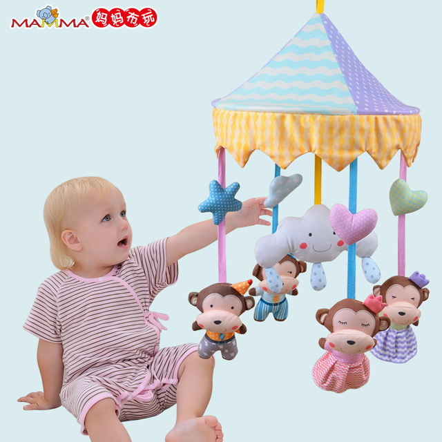Baby Toy Newborn Infant Eyes Hands Training Mobile Baby Music Rattles Stroller Bed Hanging Kid Toys