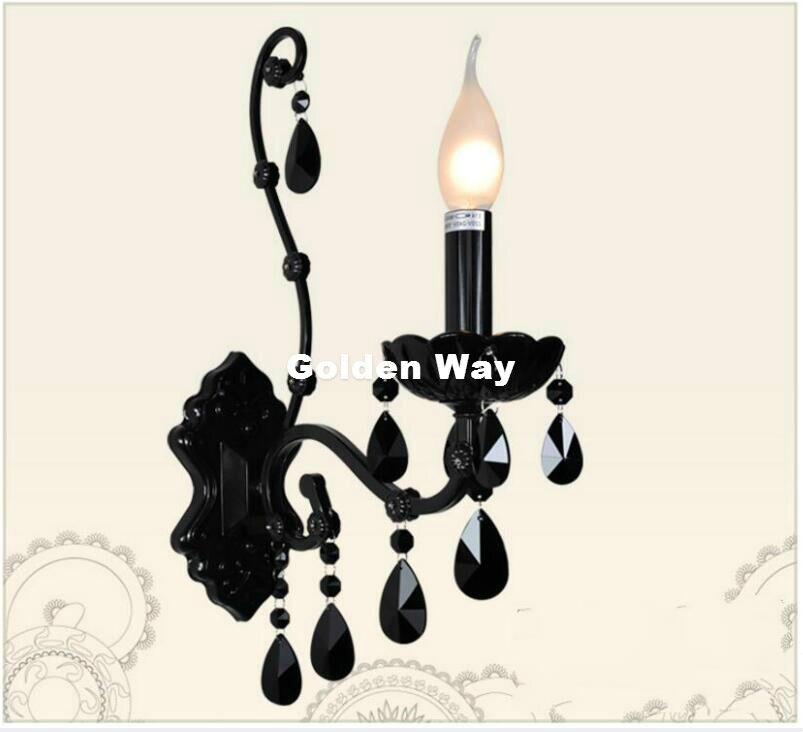O Envio gratuito de Cor Preta Decoração Sótão lâmpada de Parede Lâmpada de Parede Europeu Cama De Parede Luz Moderno Restaurante Iluminação Do Banheiro Decoração de Casa - 4