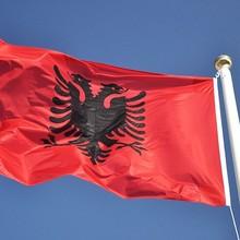 Флаг Албании двуглавый орел наружный баннер для интерьера албанский руки 3X5 футов