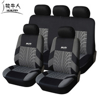 MUNIUREN Men Car Seat Cover Print Polyester Fabric Universal Covers For Car Seat Protector Car Styling Interior Accessories
