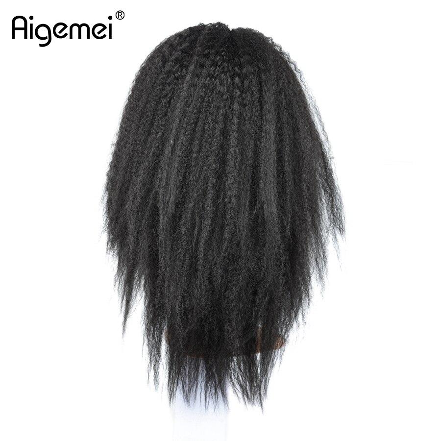 Aigemei жаростойкий кружевной парик 18inch - Синтетические волосы - Фотография 4