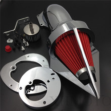 Aftermarket free shipping motorcycle parts Cone Spike Air Cleaner intake for  Honda VTX1300 VTX 1300 1986-2012 CHROMED