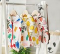 wholesale new 2016 baby girls boys  cotton lemon fruit Graffiti print summer sun coat