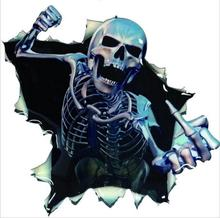 4PCS Car Stickers Personality Fashion Skull Body motorcycle Accessories wholesale Creative