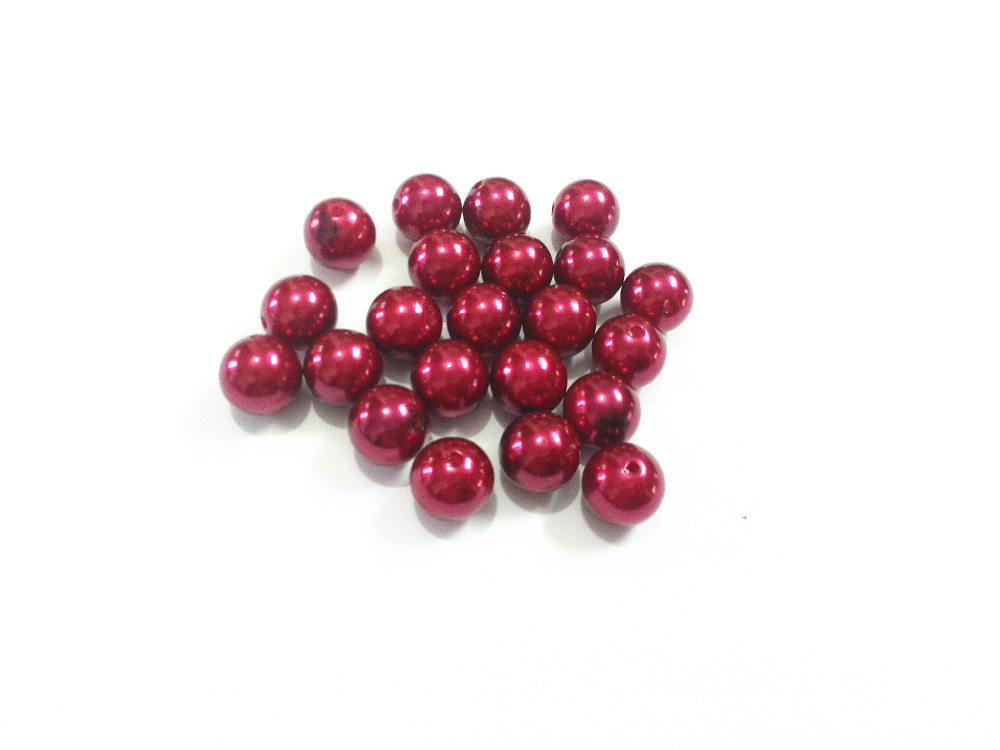 (Choose Size First) 6mm 8mm 10mm 12mm 14mm 16mm 18mm 20mm 23mm 25mm Burgundy 23  Acrylic Imitation Pearl Beads -in Beads from Jewelry   Accessories on ... 99922dbb5058