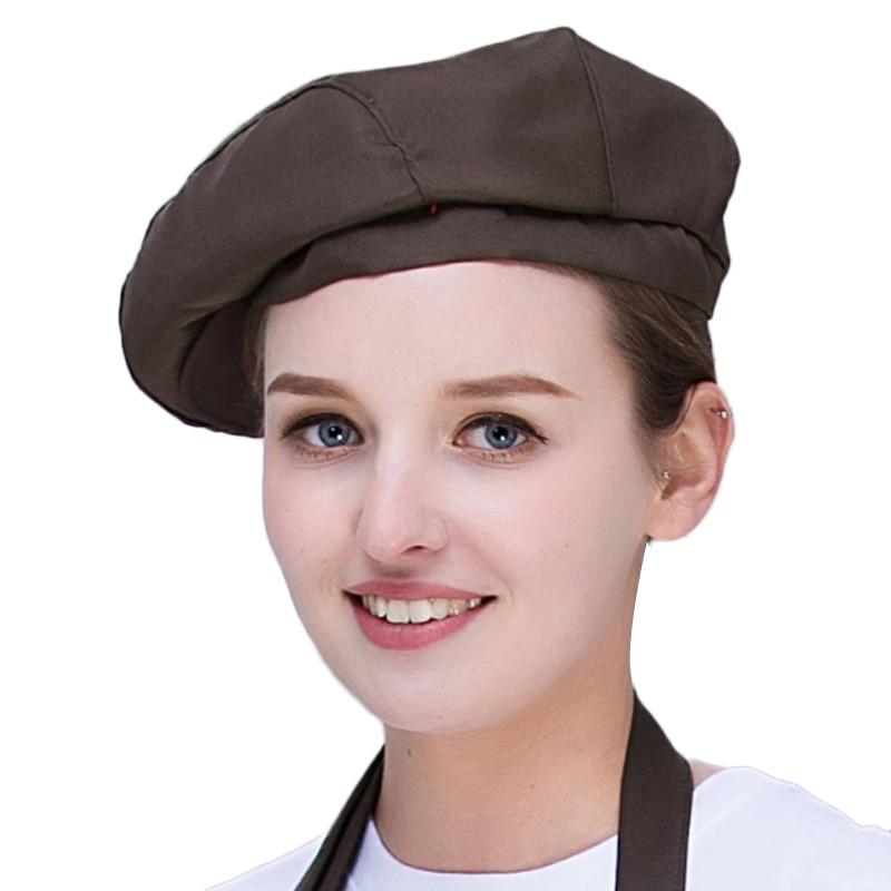 Men Women Mesh Patchwork Chef Restaurant Kitchen Cooking Work Wear Hats Hotel Bakey Cafe Waiter Breathable Cap