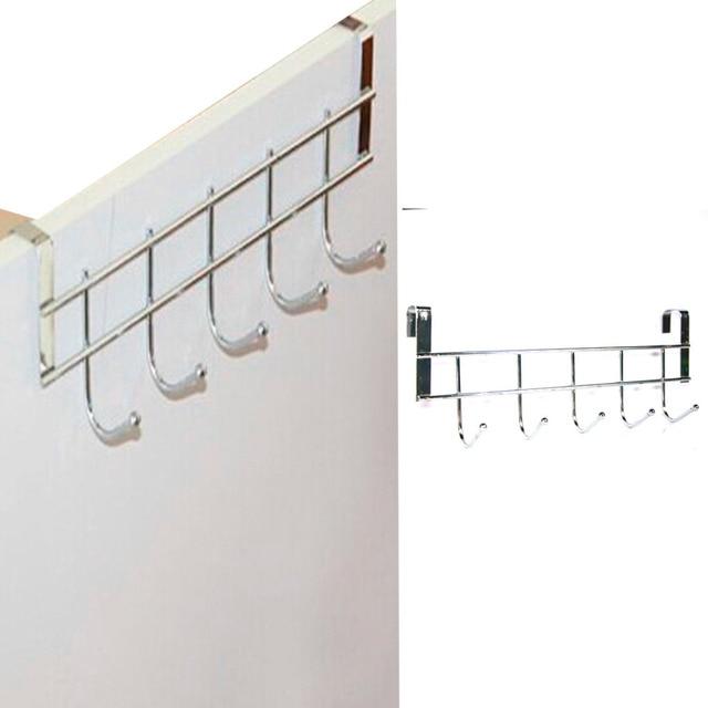 Superbe Free Shipping New 5 Hooks Home StainSteel Bathroom Kitchen Hat Towel Hanger  Over Door Hanging