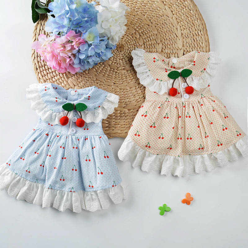 Платье принцессы собак Вишневое платье для собак вечерние свадебные платья для щенков Чихуахуа Одежда для йоркширского терьера для собак костюм Disfraz Perro