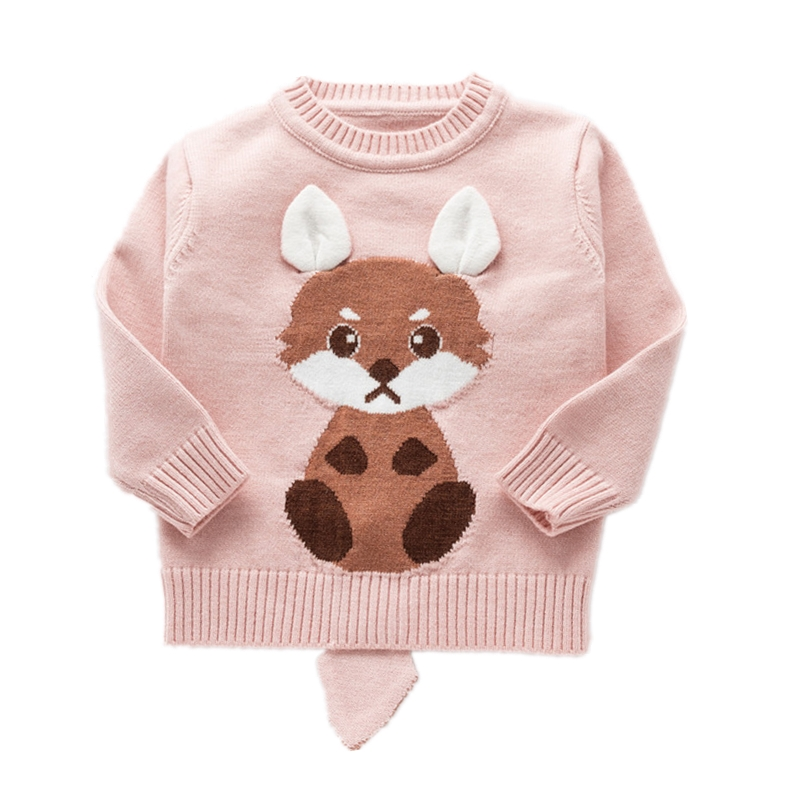 Lovely Pink Red Girls Cartoon Rabbit Kids Sweaters O-neck Baby Pullover Jersey Childrens Sweater Toddler Causal Knitted SweterLovely Pink Red Girls Cartoon Rabbit Kids Sweaters O-neck Baby Pullover Jersey Childrens Sweater Toddler Causal Knitted Sweter