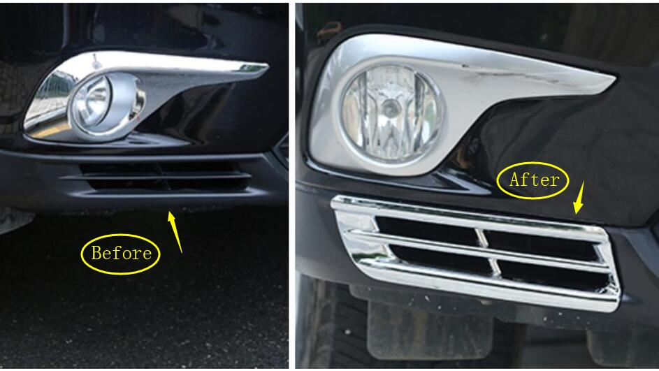 Yimaautotrims Chrome Front Bottom Fog Light Lamp Cover